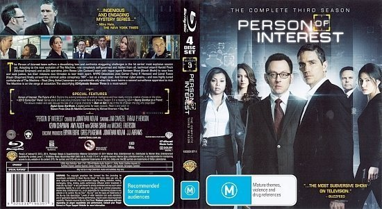 dvd cover Person Of Interest: Season 3 R4 Blu-Ray