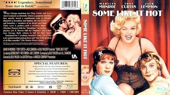 dvd cover Some Like It Hot