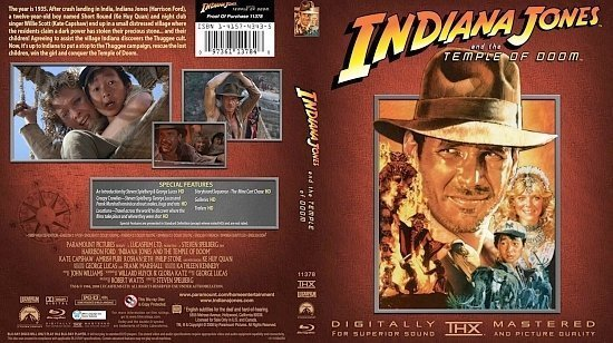 dvd cover Indiana Jones And The temple Of Doom
