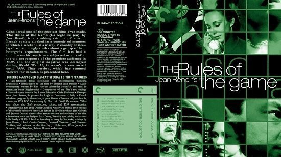 dvd cover RulesOfTheGameBRCriterionCLTv1