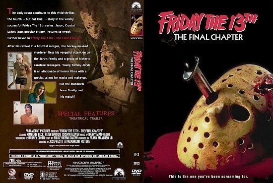 dvd cover Friday The 13th The Final Chapter