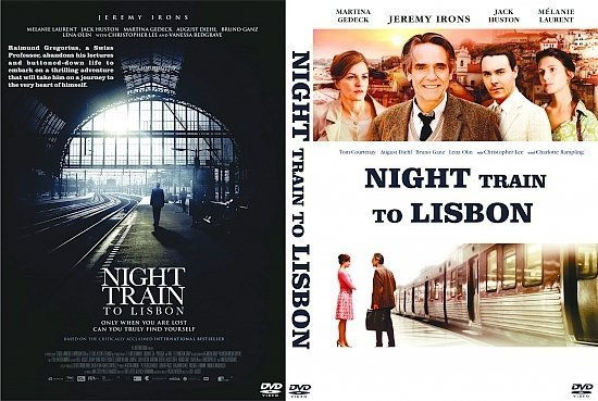 dvd cover Night Train to Lisbon R0 Custom