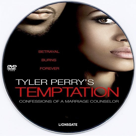 dvd cover Tyler Perry's Temptation: Confessions of a Marriage Counselor R0 Custom DVD Label