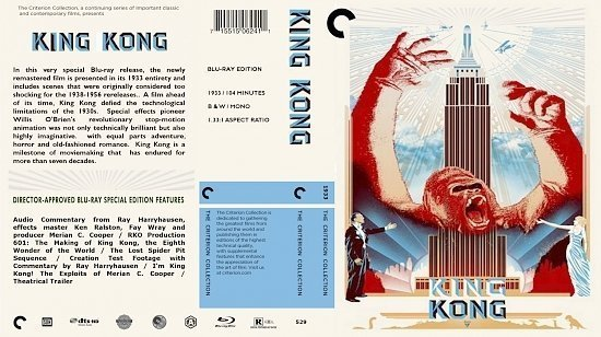 dvd cover King Kong The Criterion Collection
