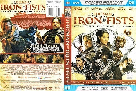 dvd cover The Man With The Iron Fists WS R1 CUSTOM