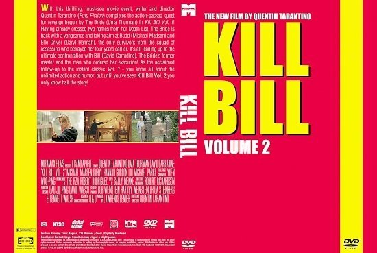 dvd cover Kill Bill Volume 2