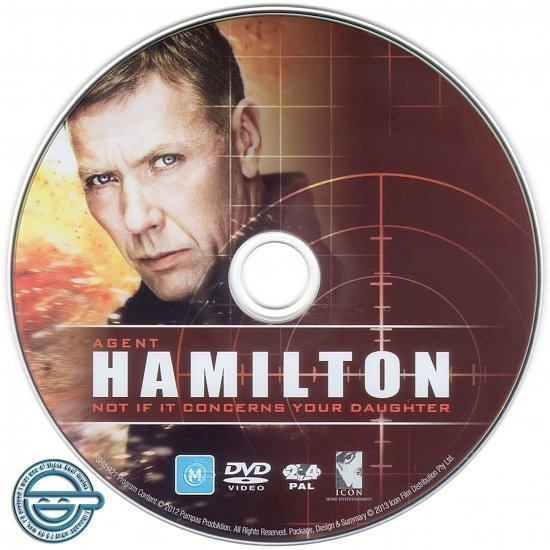 dvd cover Agent Hamilton Not If It Concerns Your Daughter R4