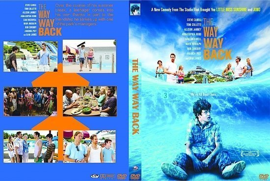 dvd cover The Way, Way Back R0 Custom