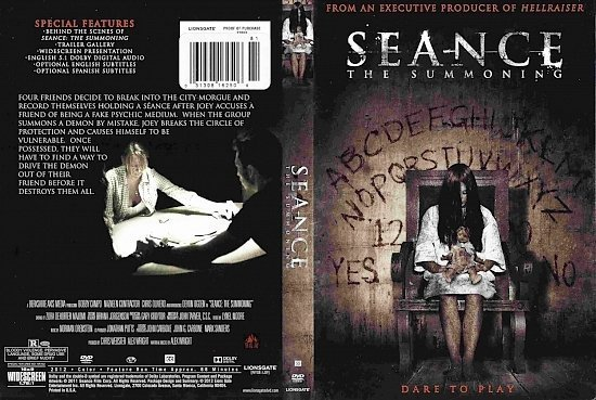 dvd cover Seance The Summoning