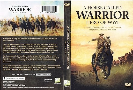 dvd cover A Horse Called Warrior Hero of WW1 (2008) R1