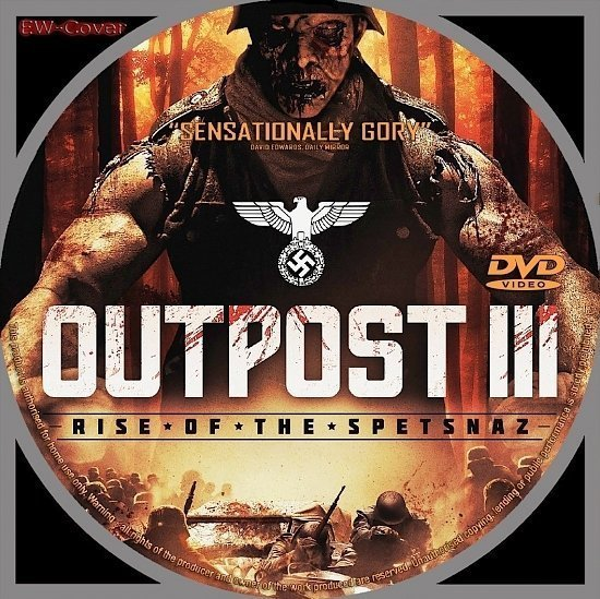 dvd cover Outpost III: Rise of The Spetsnaz R2 CUSTOM
