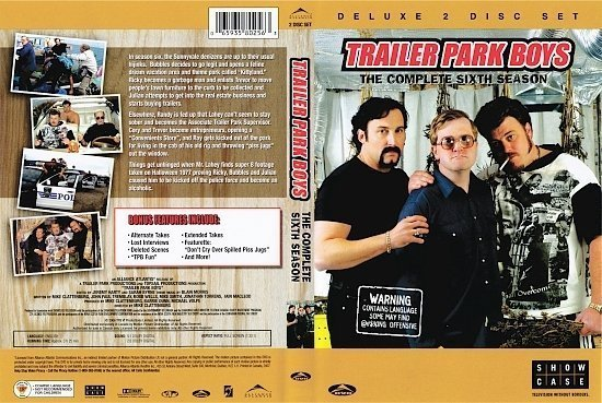 dvd cover Trailer Park Boys: Season 1-2-3-4-6 s
