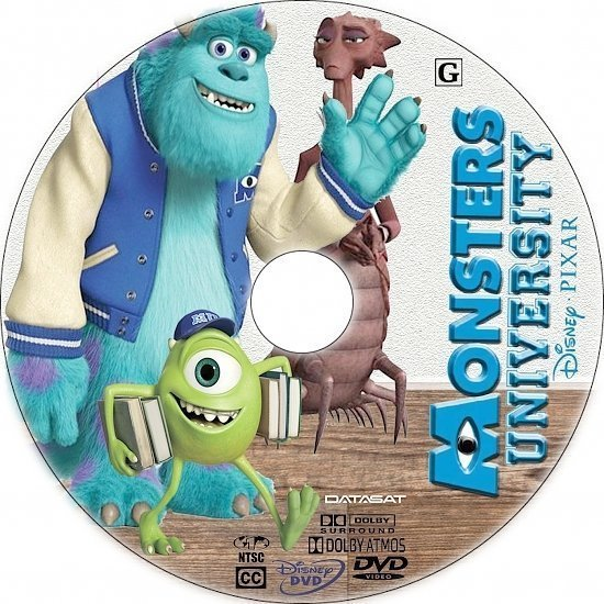 dvd cover Monsters University R1 Custom CD Cover