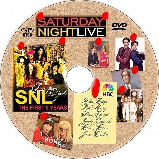 dvd cover Live from New York: The First 5 Years of Saturday Night Live (2005) R1 Custom CD Cover