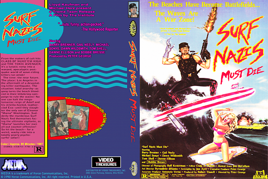 dvd cover Surf Nazis Must Die US VHS Reconstruction