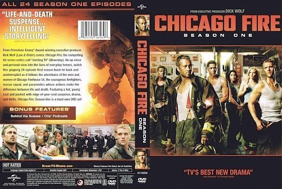 dvd cover Chicago Fire