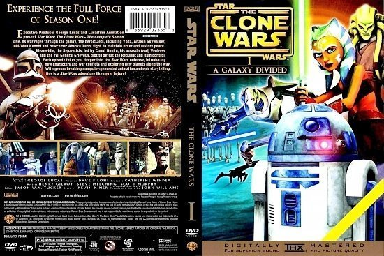 dvd cover Star Wars The Clone Wars Season I (2008) R1