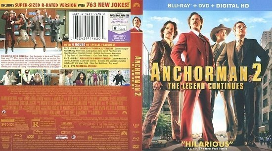 dvd cover Anchorman 2 The Legend Continues