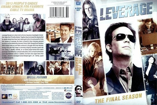dvd cover Leverage