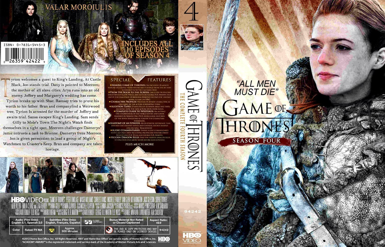game of thrones season 4 r0 custom dvd covers and labels. Black Bedroom Furniture Sets. Home Design Ideas