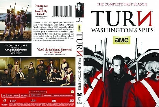 dvd cover Turn: Washington's Spies: Season 1 R1