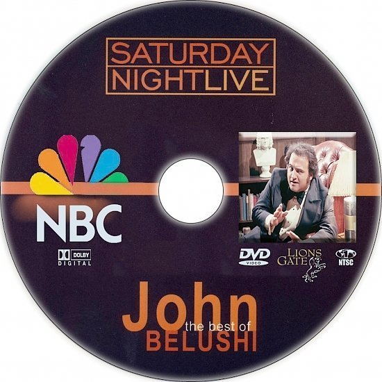 dvd cover Saturday Night Live: The Best of John Belushi (2005) R1 Custom CD Cover