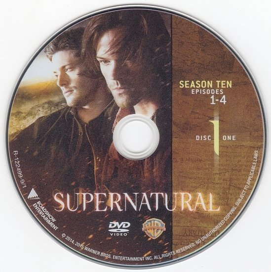 dvd cover Supernatural: Season 10 R4 & Label