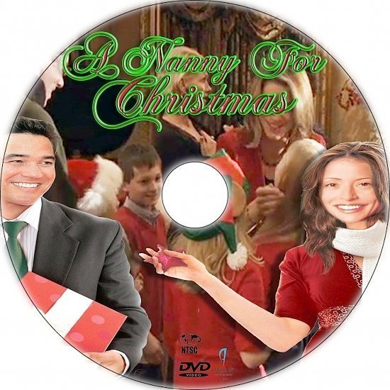 dvd cover A Nanny for Christmas (2010) R1 Custom DVD Labels