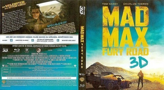dvd cover Mad Max Fury Road Blu-Ray 3D German
