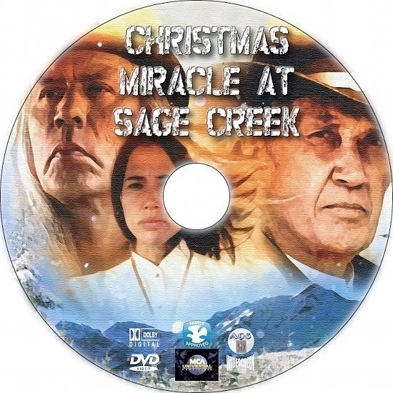dvd cover Christmas Miracle at Sage Creek (2005) Custom DVD Label