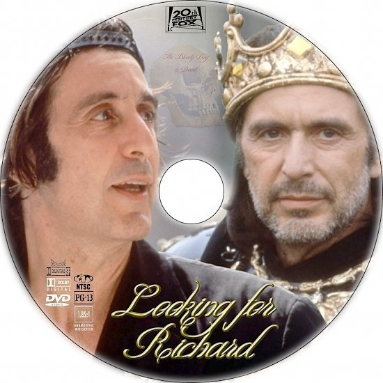 dvd cover Looking for Richard (1996) R1 Custom DVD label