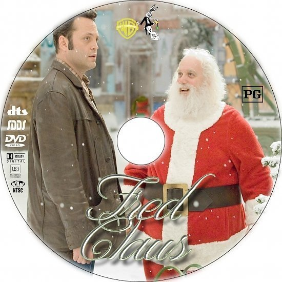 dvd cover Fred Claus (2007) R1 Custom DVD Label