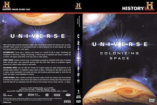 dvd cover Universe Colonizing