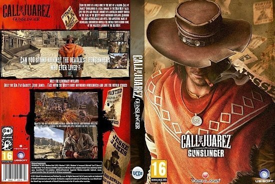 dvd cover call of juarez gunslingers