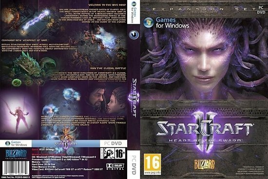 dvd cover StarCraft 2 Heart of Swarm B