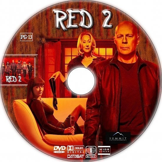 dvd cover RED 2 R1 Custom DVD Label
