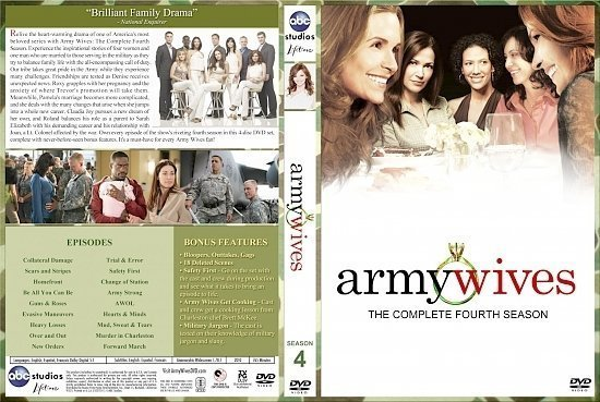 dvd cover Army Wives Season 4