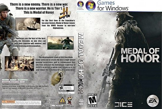 dvd cover Medal of Honor