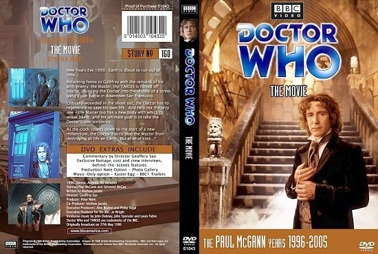 dvd cover Doctor Who The Movie