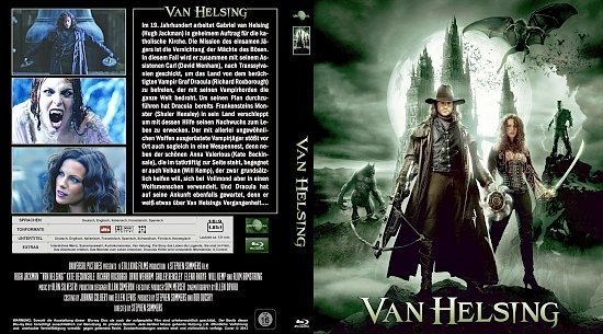 dvd cover Van Helsing (2004) Blu-Ray (german)