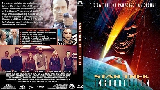dvd cover Star Trek: Insurrection