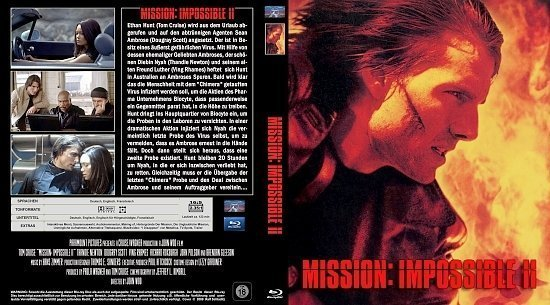 dvd cover Mission Impossible 2 (2000) Blu-Ray (german)