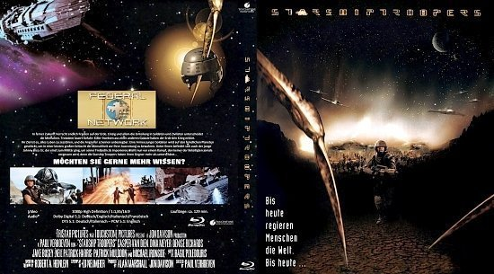 dvd cover Starship Troopers (1997) Blu-Ray (german)