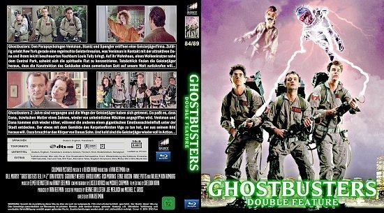 dvd cover Ghostbusters 1 & 2 Blu-Ray (german)
