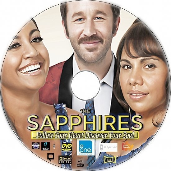 dvd cover The Sapphires R0 Custom DVD Label