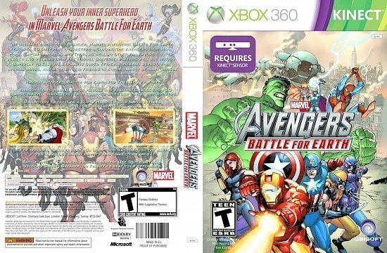 dvd cover Marvel Avengers: Battle For Earth