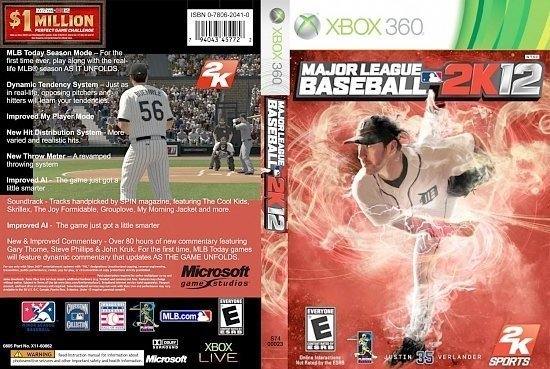 dvd cover Major League Baseball 2K12 NTSC f