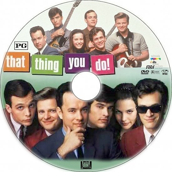 dvd cover That Thing You Do! (1996) R1 Custom DVD Label