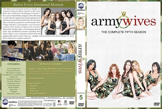 dvd cover Army Wives Season 5