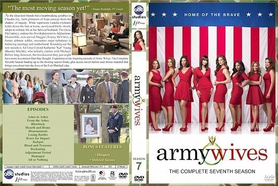 dvd cover Army Wives Season 7
